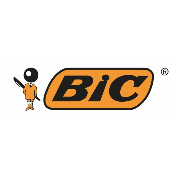 BIC 4 Couleurs Stylos-Bille Rétractables - Pot à Stylos Fluo de 6