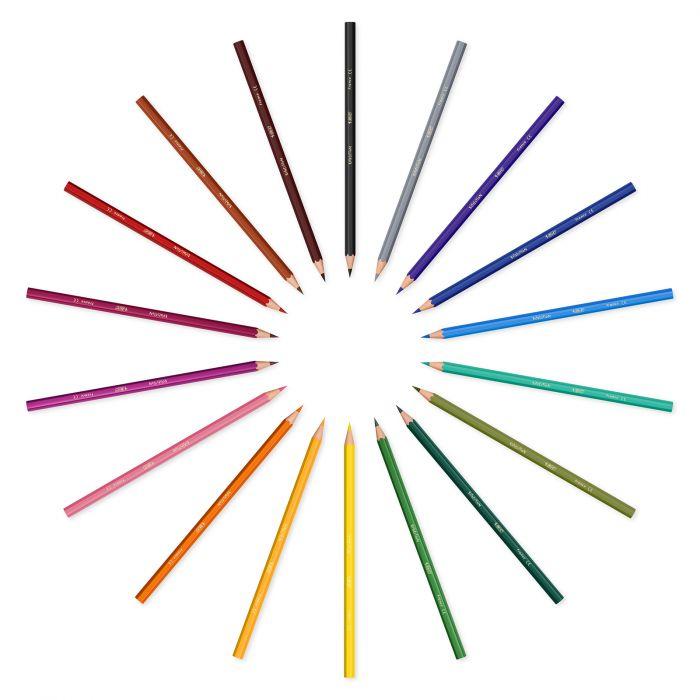 BIC Kids Evolution ECOlutions Crayons de Couleur - Coloris Assortis, Boîte Métallique de 18