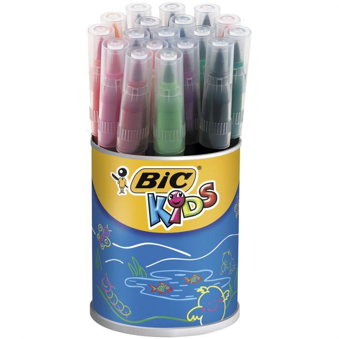 BIC Kids Visaquarelle Feutres de Coloriage avec Pointe Pinceau - Couleurs Assorties