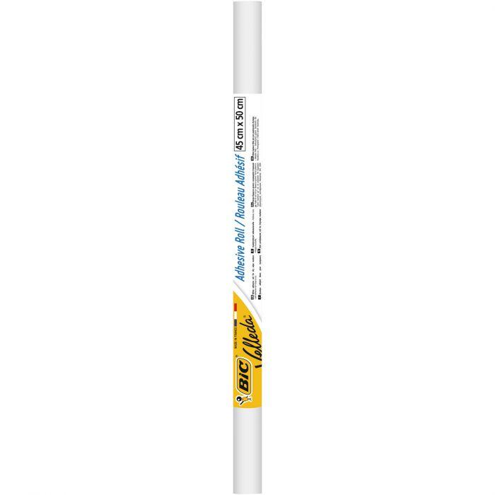 BIC Velleda Rouleau Adhésif Effaçable à Sec 45x50 cm - Blanc
