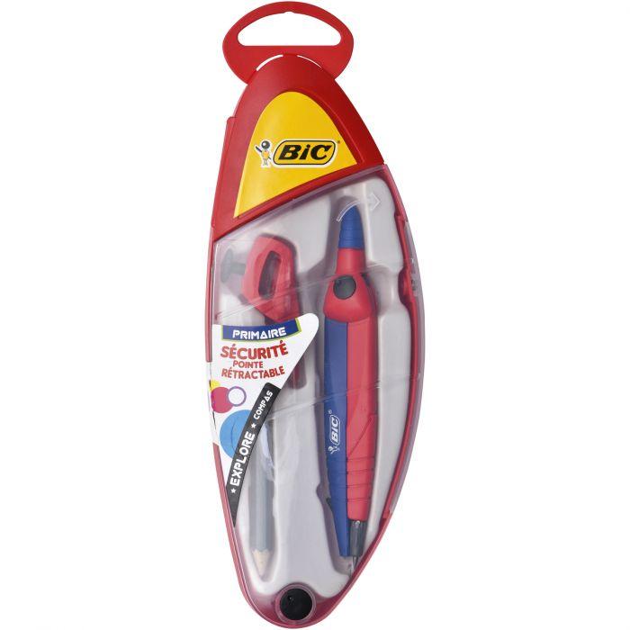 BIC Explore Compas Interchangeable Mine ou Crayon - Coffret Complet