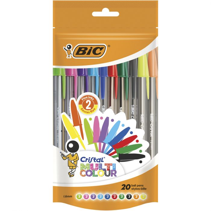 BIC Cristal Multicolour Stylos-Bille Pointe Large (1