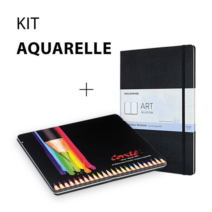 Kit aquarelle - Conte et Moleskine