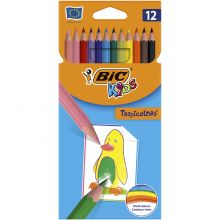 BIC Kids Tropicolors Crayons de Couleur - Coloris Assortis