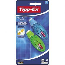 Tipp-Ex Micro Tape Twist Rubans Correcteurs 8 m x 5 mm - Corps Couleurs Assorties