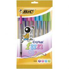 BIC Cristal Fun Stylos-Bille Pointe Large (1