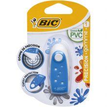 BIC Précision Gomme Blanche avec Capot Protecteur - Couleur Aléatoire