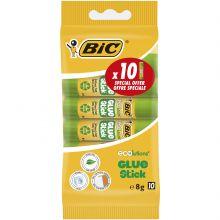 BIC ECOlutions Bâtons Décorés de Colle Blanche - 8 g