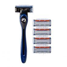 BIC Shave Club 5 Neo -  Starter Kit - 1 manche bleu + 4 recharges de 5 lames