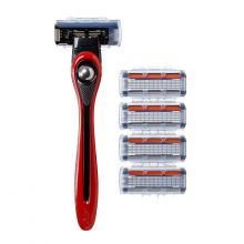 BIC Shave Club 5 Neo -  Starter Kit - 1 manche rouge + 4 recharges de 5 lames