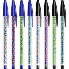 BIC Cristal Collection Stylos-Bille à Pointe Moyenne 8 noir et bleu