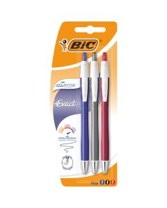 BIC Atlantis Exact Stylos-Bille Rétractables Pointe Fine (0