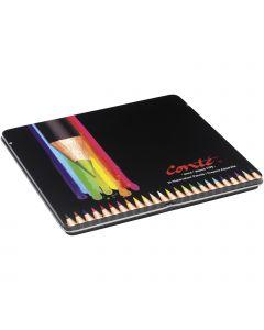 Conté Crayons de Couleur Aquarellables pour Adultes - Couleurs Assorties