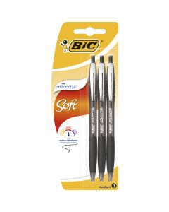 BIC Atlantis Soft Stylos-Bille Rétractables Pointe Moyenne (1