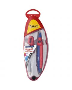 BIC Explore Compas Interchangeable Mine ou Crayon - Coffret Complet