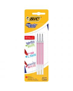 BIC Gel-ocity Illusion Recharges Stylo Gel Effaçable Pointe Moyenne (0