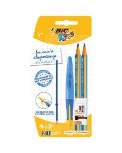 BIC Kids Kit d'Apprentissage de 5 Produits d'Ecriture -  1 Stylo-Bille/1 Recharge/2 Crayons à Papier/1 Gomme