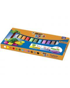 BIC Kids Plasticine - Pâte à modeler - 12 couleurs - lot de 12 rouleaux