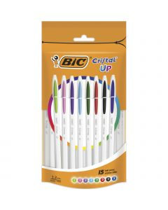 BIC Cristal Up Stylos-Bille Pointe Moyenne (1