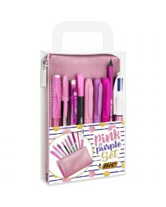 BIC Pink & Purple Party Set - 1 Trousse