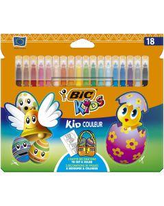 BIC Kids Kid Couleur Feutres de Coloriage à Pointe Moyenne Edition de Pâques - Couleurs Assorties