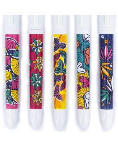 4 Couleurs Editions limitée - Motifs Wax Africains - Coffret de 5 stylos