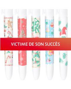 4 Couleurs Edition limitée à 500 exemplaires- Noël - Coffret de 5 stylos