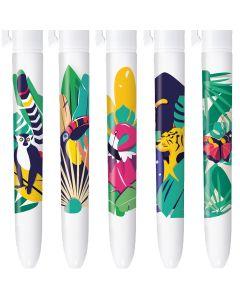 4 Couleurs Editions Limitée - Jungle - Coffret de 5 stylos
