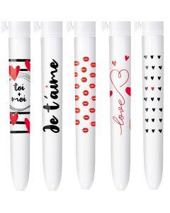4 Couleurs Editions limitée - LOVE V2 - Coffret de 5 stylos