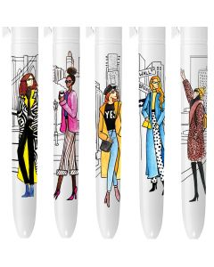 BIC 4 Couleurs Edition Limitée - Girls in the City - coffret de 5 stylos