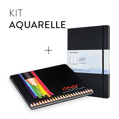 Watercolour bundle BIC et  Moleskine