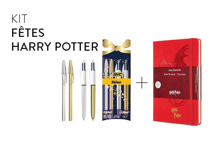 Harry Potter Christmas bundle BIC et  Moleskine