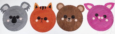 Tutoriel Masque Carnaval Animaux - koala, chat, ours, cochon